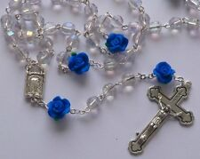 Crystal Apparition Rosary Beads with a Virgin Mary Centre - GIFTS FROM LOURDES