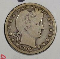 1905 Barber Quarter Very Good