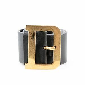 Christian Dior 'Diorquake' Black Leather Waist Belt