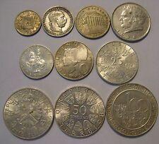 Austria silver type set 1893 - 1970's