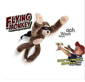 Flying Monkey Toy Chicken Duck Screaming Flying Slingshot Plush Novelty Doll un