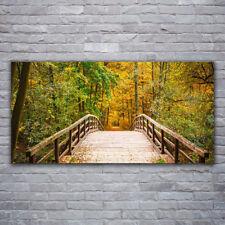 Leinwand-Bilder Wandbild Canvas Kunstdruck 125x50 Brücke Steine Architektur