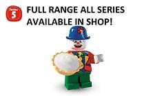 LEGO MINIFIGURES piccolo CLOWN serie 5 (8805) NUOVO SIGILLATO di fabbrica