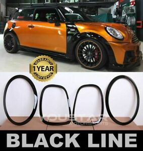 US STOCK BLACK LINE Headlight & Rear light Trims for MINI Cooper F55 F56 F57 JCW