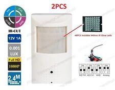 2PCS 48pcs Invisible IR Glow 940nm LED, HD 1080P Hidden PIR Style Camera BNC