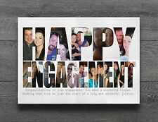 Personalised Happy Engagement Print Perfect Gift