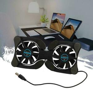 USB Laptop Cooler Cooling Pad Stand Adjustable Fan For PC new Notebook U9N8