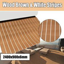 900x2400x6mm EVA Foam Brown & Black Lines Marine Flooring Faux Teak Boat Decking