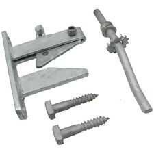 More details for self locking gate latch field gate auto catch heavy galv lockable inc fixings