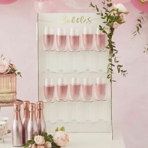 Prosecco Drinks Wall Holder   Gold Wedding Birthday Christmas Party Centrepiece