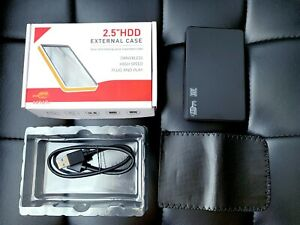 "2.5"" SATA Hard Drive External USB 3.0 Enclosure HDD Case Durable Case Retail Box"