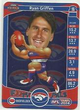 2014 TEAMCOACH WESTERN BULLDOGS RYAN GRIFFEN Footy Pals C18 CARD FREE POST