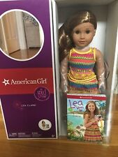 "American Girl Lea  DOLL OF THE YEAR 18"" LOT! NEW Book. Compass,  bag, pj's"
