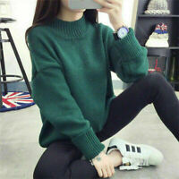 Coat Fashion Women Students Pullover Loose Sweater Long Sleeve Knitwear
