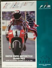 United States Motorcycle Grand Prix Program, Laguna Seca, 1993, Rainey, Schwantz