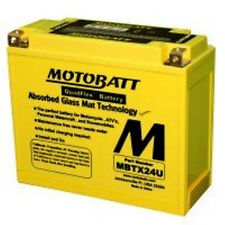 New MBTX24U MotoBatt AGM Sealed QuadFlex Y50N18 Motorcycle Replacement Battery
