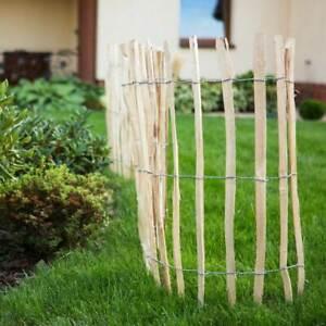 Staketenzaun Holzzaun Haselnussholz Zaunlatte Rollzaun imprägniert 50cm-120cm