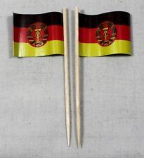 Party-Picker DDR 50 St. Profiqualität Dekopicker Flagge Papierfähnchen