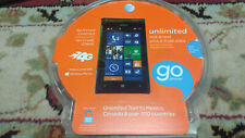 New Nokia Lumia 520 AT&T Prepaid Go Phone Windows