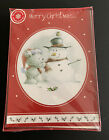 Christmas Greeting Cards one box of 16 Bear Snowman new with envelopes