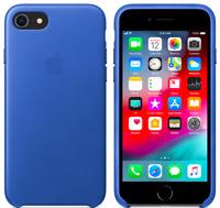 Apple iPhone 8/7 4,7″ Echt Original Leder Hülle Leather Case - Elektrisches Blau