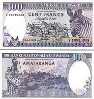Rwanda 100 Francs 1989, UNC, P-19, Prefix Z