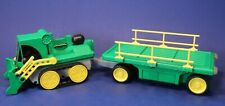 Classic Rokenbok Motorized RC Load Pusher Truck Vehicle w/ Trailer Cart