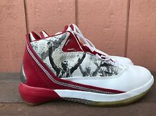 AIR JORDAN XXII 22 OMEGA WHITE VARSITY RED BLACK 315300-162 US 6Y EUR 38.5