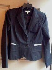 Loft Black 8  Women's Suit Blazer Sport Coat Pre-Owned Gentle Used Office Wear