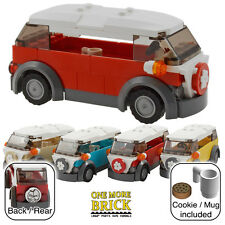 LEGO Camper Van - VW style beach holiday camper - Red (other colours available)
