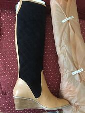 New Anthropologie two tone Boots size 9 $398.00 plus