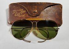 WWII Anti Glare B&L Ray Ban Bausch & Lomb 1/10 12k GF Aviator Outdoorsman 58mm