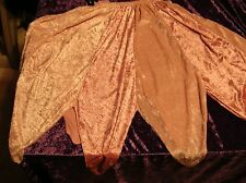 3 tone pink velvet renaissance fairy petal skirt handmade Medium Large 12 14