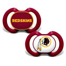 WASHINGTON REDSKINS 2-PACK BABY INFANT ORTHODONTIC PACIFIER SET NFL FOOTBALL