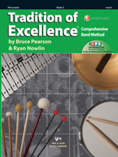 Tradition Of Excellence-Percussion Music Book & Online Access Level 3 Drums New!