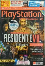 PlayStation UK Dec 2016 Resident Evil Biohazard Watch Dogs 2 FREE SHIPPING sb