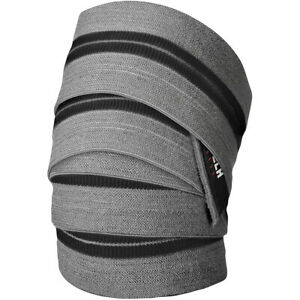 Lift Tech Fitness Comp Weight Lifting Knee Wraps - Gray