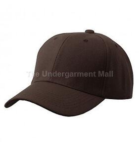 Womens Plain Baseball Cap Adjustable Solid Hat Polo Style Strapback Ballcap