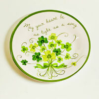 St. Patrick's Day Irish Shamrocks Melamine Salad Plates Set of 4 ~ Susan Winget