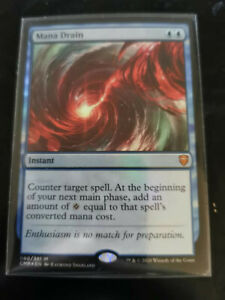 Mana Drain Foil Commander Legends Mythic MTG Magic