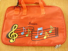 Personalized 'JESSICA' Red Music Tote Shoulder Bag for Sheet Music & Song Books