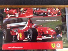 Michael Schumacher Ferrari Poster from the Vodafone era