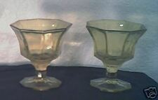 2 Amber Glass Desert Sorbert bowls
