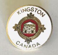 Kingston Canada City Crest Souvenir Brooch Pin Badge Rare Vintage (E6)