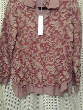 Silk Box womans burnout blouse size S