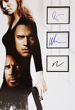 PRISON BREAK Multi Signed 18x12 Photo Display PURCELL, MILLER, CALLIES COA