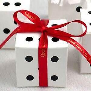 100m x 10mm Personalised Luxury DS Ribbon Wedding favors Birthdays Christmas,