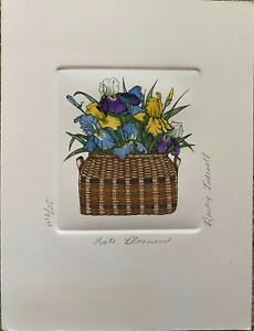Late Bloomers by Barbie Tidwell - Hand Colored Etching