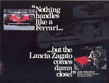 Lancia Zagato - Beta Spider - US market sales brochure / poster