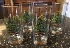 SPODE CHRISTMAS TREE SET OF FOUR (4) ICE TEA GLASSES